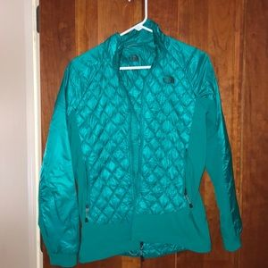 Teal North Face Rain Jacket size M